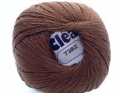 Chocolate Brown Size 10 Crochet Cotton Thread Yarn Knitting. 100% Mercerized