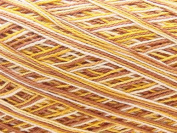 Free Ship Variegated Light Brown Yellow Size 10 Crochet Cotton Thread Yarn Knitting. 100% Mercerized