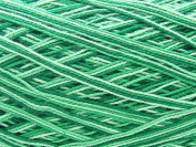 Free Ship Variegated Green #10 Crochet Cotton Thread Yarn Knitting. 100% Mercerized