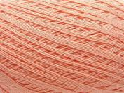 Free Ship Peach Salmon Size 10 Crochet Cotton Thread Yarn Knitting. 100% Mercerized