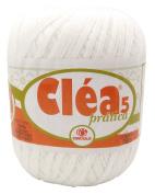 White Clea5 Pratica 150g 750m #5 Crochet Cotton Thread Knitting Yarn