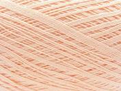 Free Ship Light Peach Salmon Size 10 Crochet Cotton Thread Yarn Knitting. 100% Mercerized