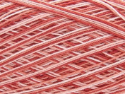 Free Ship Variegated Red #10 Crochet Cotton Thread Yarn Knitting. 100% Mercerized