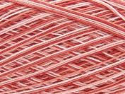 Free Ship Variegated Red #10 Crochet Cotton Thread Yarn Knitting. 100% Mercerized
