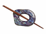 Buttons.etc Exotic Shawl Pins, 32501 - Navy Shell