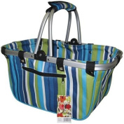 JanetBasket Blue Stripes Large Aluminium Frame Bag