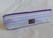 Della Q Long Zip Pouch for Accessories #1102-1 Purple