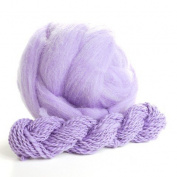 Potluck Wool Roving Multi-Coloured Lavender 240ml ball