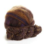 Potluck Wool Roving Multi-Coloured Night Sky 240ml ball