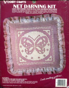 Vogart Crafts Net Darning Butterfly Pillow Kit