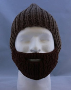 Beard Hat Coffee Hat Brown Beard High Quality 100% Milk Cotton Hand Crocheted Beanie Hat
