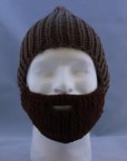 Beard Hat Coffee Hat Brown Beard High Quality 100% Milk Cotton Hand Crocheted Beanie Hat