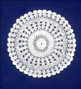 30cm Hand crochet doilies - Set of 4