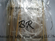 BrilliantKnitting (BR brand) 15 size 120cm bamboo circular knitting needles pins US 0-15