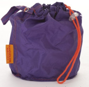 Purple Medium GoKnit Pouch Project Bag w/ Loop & Drawstring