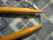 "Bamboo Circular Knitting Needles Size US 35 (19 mm) BrilliantKnitting (BR brand), length 40"" inches from tip to tip"