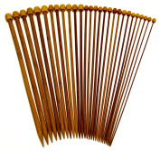 Stanwood Needlecraft Carbonised Patina 33cm Single Point Bamboo Knitting Needles 14 Sizes