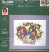 Fruit - Plaid Bucilla Counted CrossStitch #43127 36cm x 28cm