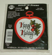 Happy Holidays #3305 Stitch 'N Frame Counted Cross Stitch Kit