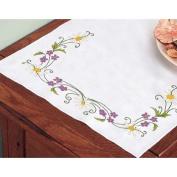 Daisies & Violets Dresser Scarf