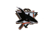 San Jose Sharks NHL Hockey Logo Lapel Pin Badge ... 2.5cm X 2.5cm ... New