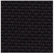 Black 11 Counted Cotton Aida Cloth Cross Stitch Fabric 48cm x 48cm