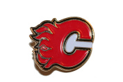 Calgary Flames Logo.. NHL Hockey Logo Lapel Pin Badge ... 2.5cm X 2.5cm ... New