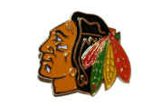 Chicago BlackHawks Logo.. NHL Hockey Logo Lapel Pin Badge ... 2.5cm X 2.5cm ... New