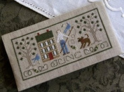 Pocket Calendar Cover - June - Cross Stitch Pattern