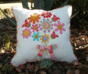 Thank You Floral Applique Pillow Pattern