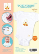Tobin Needle Crafts Tobin Baby Duck Soft Touch Romper Embroidery Kit Fits 0 3 Months