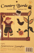 Scarecrow Sampler Country Border Iron on Fabric Applique Craft Kit