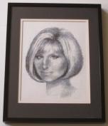 Barbra Streisand Black & White Counted Cross Stitch Pattern