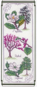 BLOOMING TREES COUNTED CROSS STITCH CHART