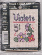 Violets #1482 Stitch A Seed Packet Counted Cross Stitch Kit