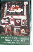 WISHING STAR ANGELS QUILTING PATTERN FROM FIBRE MOSAICS 88001 18X24, 9X11 & 10X13