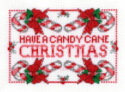 Candamar Designs Candy Cane Christmas Cross Stitch Kit