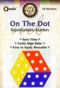 Q Tools On The Dot Repositionable Ruler Markers for Consistent, Accurate Cutting and Measuring for Quilting and Sewing