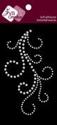 Zva Creative CRS-05CA-110 Pearl Sticker, White Flourish