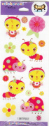 Cute Bugs and Flowers Scrapbook Stickers