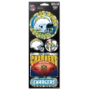 San Diego Chargers Prismatic Stickers