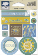 Beach Epoxy Scrapbook Stickers