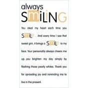 Always Smiling Rub-Ons for Scrapbooking