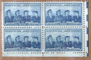Stamps US Women In The Service Sc 1013 MNH Block