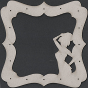 Fabscraps Die-Cut Grey Chipboard Embellishments, Show Girl Frame