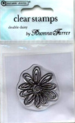 Rhonna Farrer Double Daisy Clear Stamp