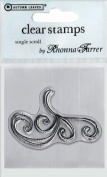 Rhonna Farrer Single Scroll Clear Stamp