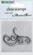 Rhonna Farrer Single Scroll Clear Stamp