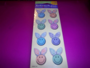 Smiley Face Rabbit Stickers