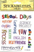 school Days Acid Free Stickers